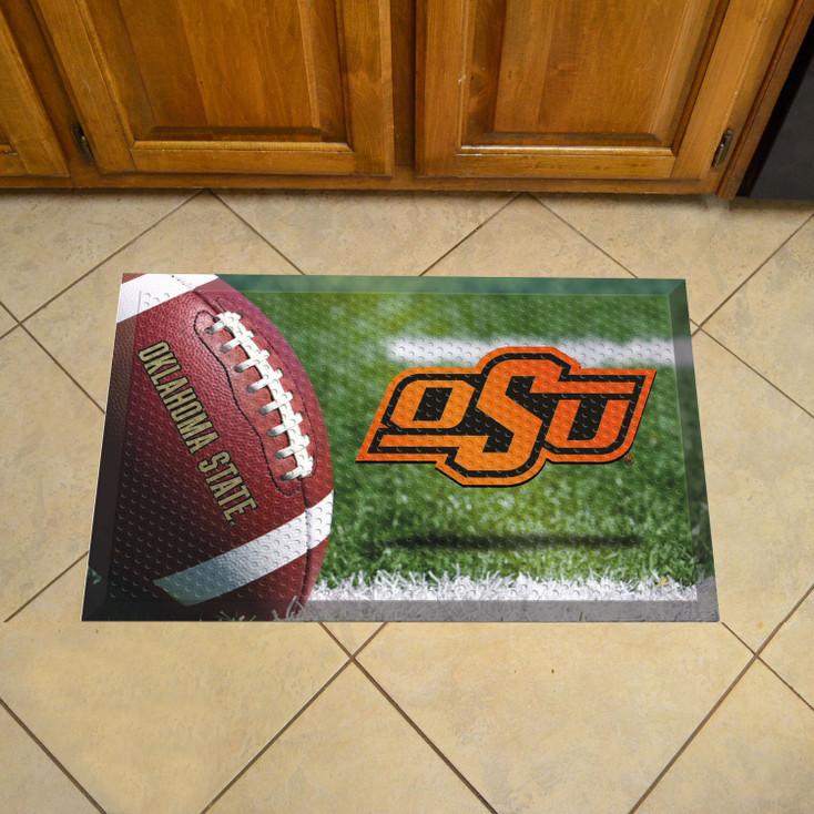 "19"" x 30"" Oklahoma State University Rectangle Scraper Mat - ""OSU"" Logo"