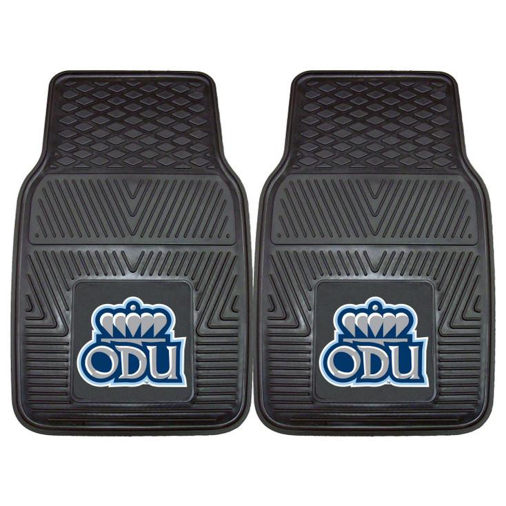 Old Dominion University Heavy Duty Vinyl Front Black Car Mat, Set of 2