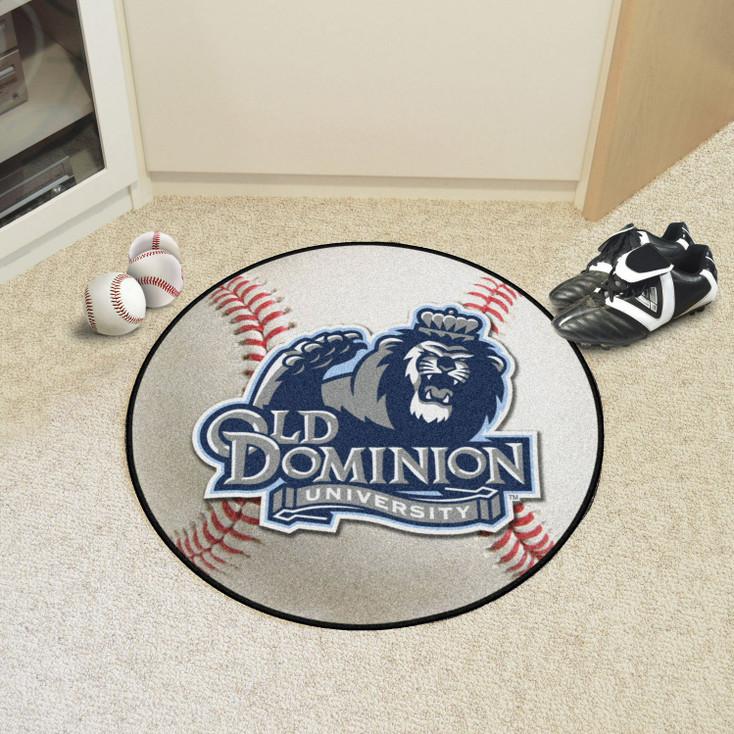 "27"" Old Dominion University Baseball Style Round Mat"