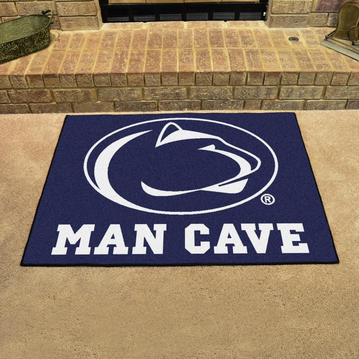 "33.75"" x 42.5"" Penn State Man Cave All-Star Blue Rectangle Mat"
