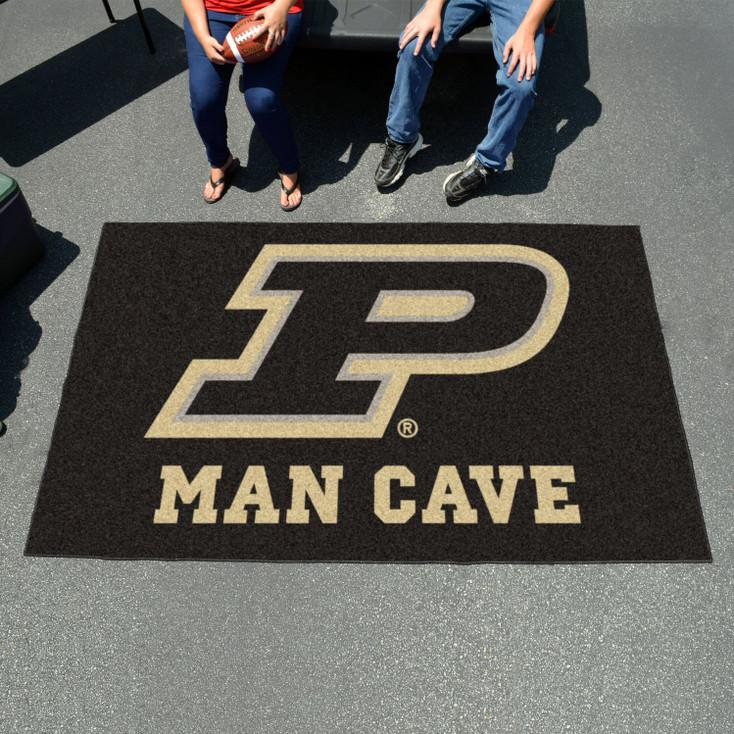 "59.5"" x 94.5"" Purdue University Man Cave Black Rectangle Ulti Mat"