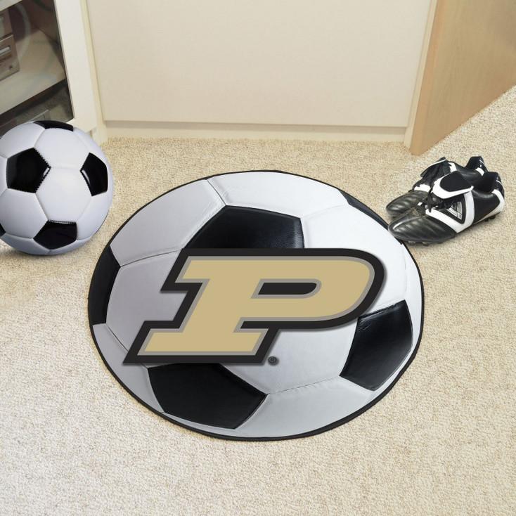 "27"" Purdue University Soccer Ball Round Mat"
