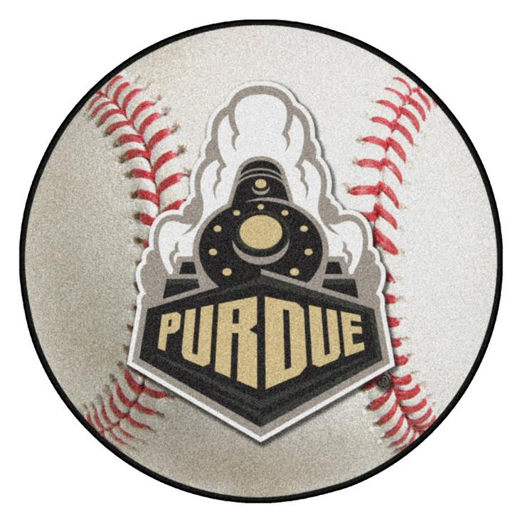 "27"" Purdue University Train Logo Baseball Style Round Mat"