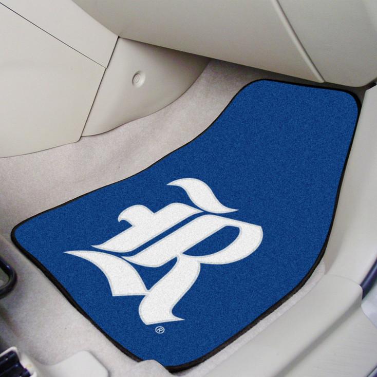 Rice University Blue Carpet Car Mat, Set of 2