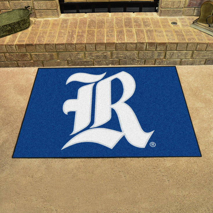"33.75"" x 42.5"" Rice University All Star Blue Rectangle Mat"