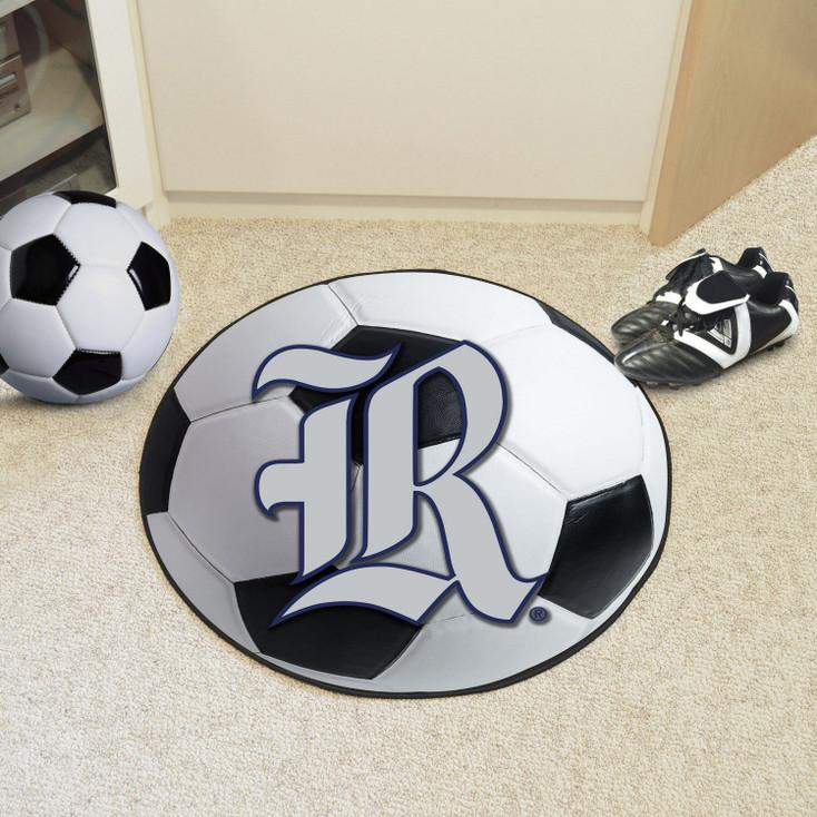 "27"" Rice University Soccer Ball Round Mat"