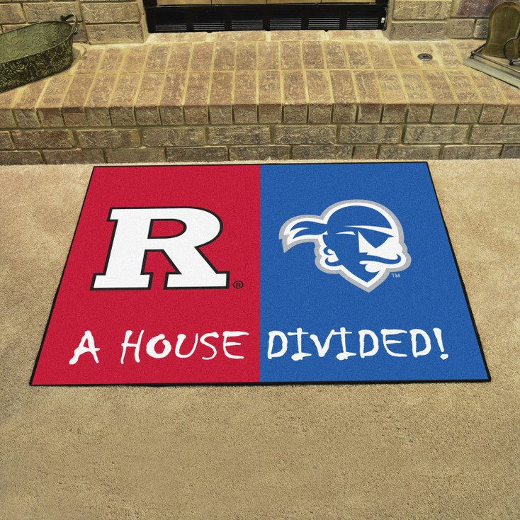 "33.75"" x 42.5"" Rutgers / Seton Hall House Divided Rectangle Mat"