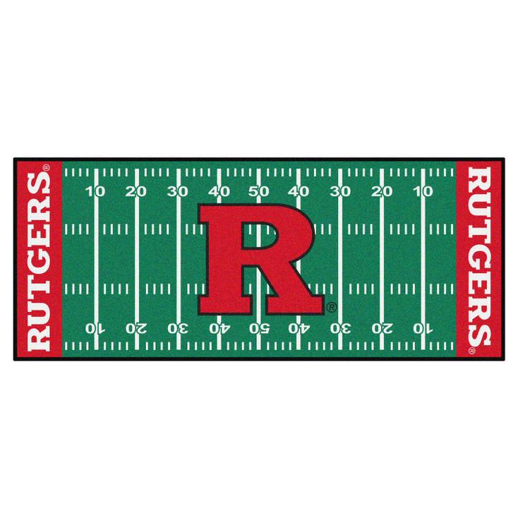 """30"""" x 72"""" Rutgers University Football Field Rectangle Runner Mat"""