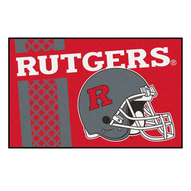 """19"""" x 30"""" Rutgers University Uniform Red Rectangle Starter Mat"""