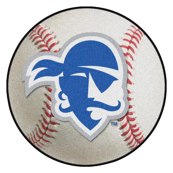 """27"""" Seton Hall University Baseball Style Round Mat"""