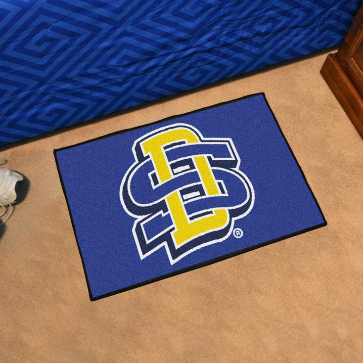 "19"" x 30"" South Dakota State University Blue Rectangle Starter Mat"