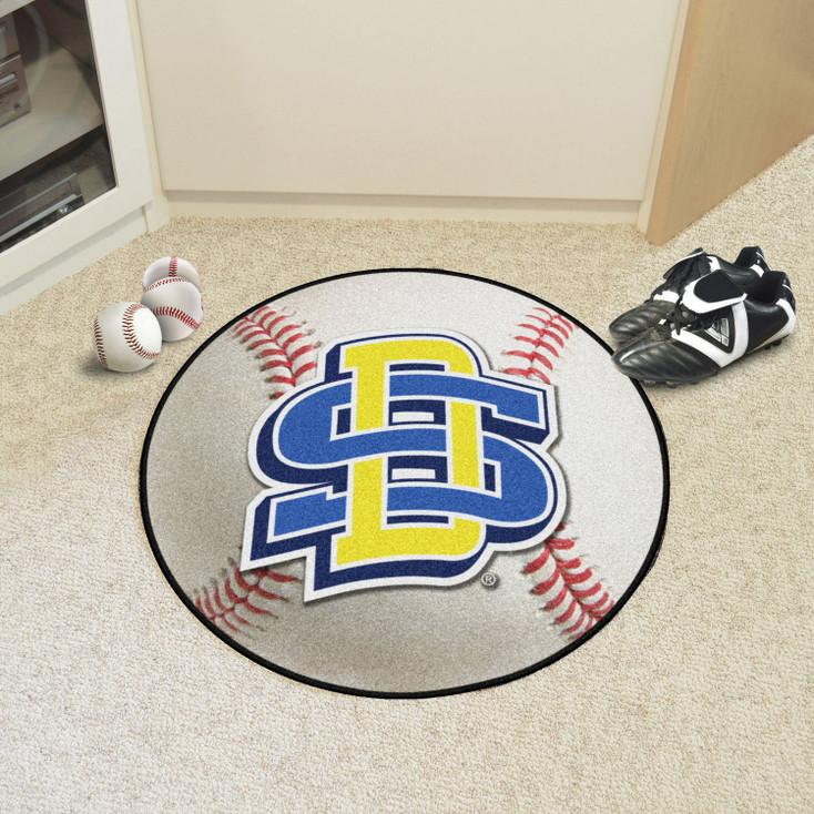 """27"""" South Dakota State University Baseball Style Round Mat"""