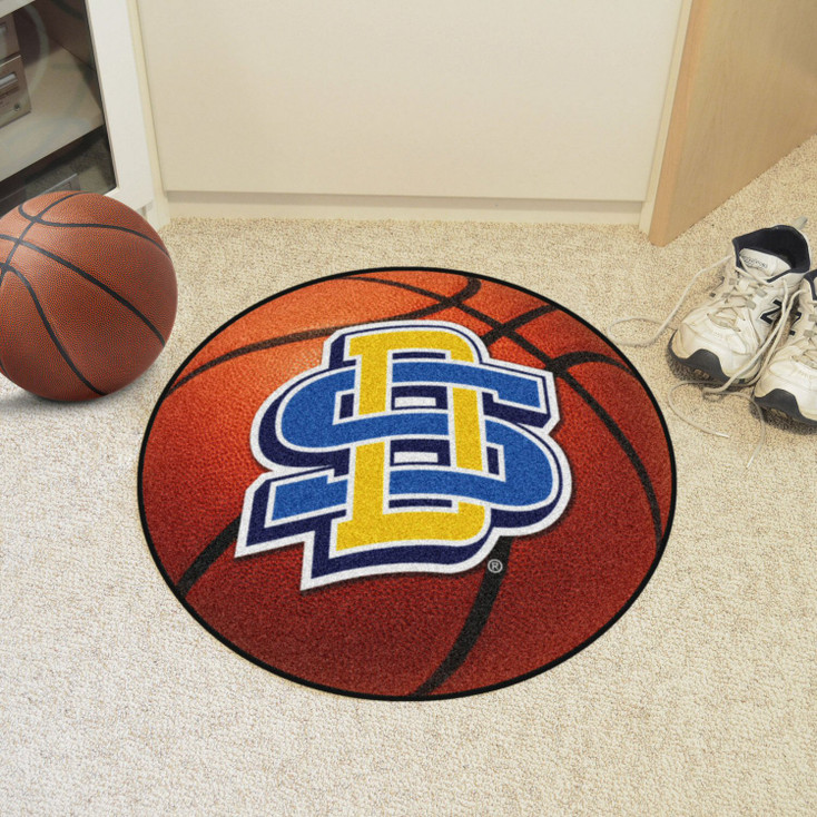 """27"""" South Dakota State University Basketball Style Round Mat"""