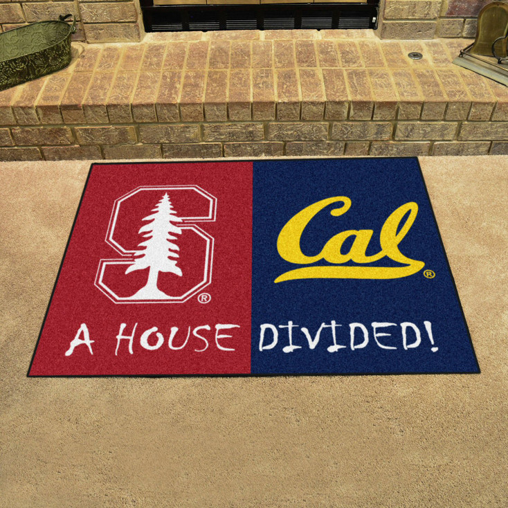 """33.75"""" x 42.5"""" Stanford / UC-Berkeley House Divided Rectangle Mat"""