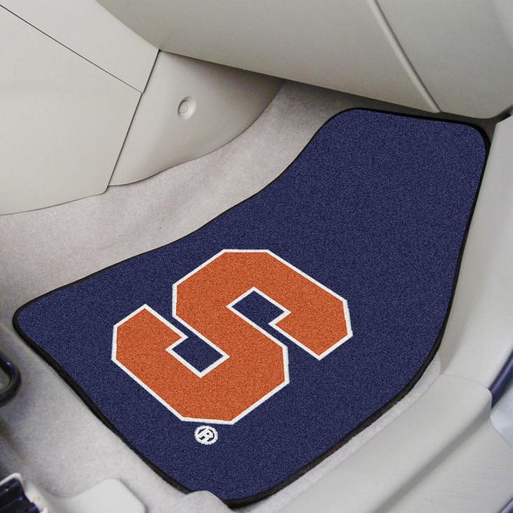 Syracuse University Block S Logo Carpet Car Mat, Set of 2