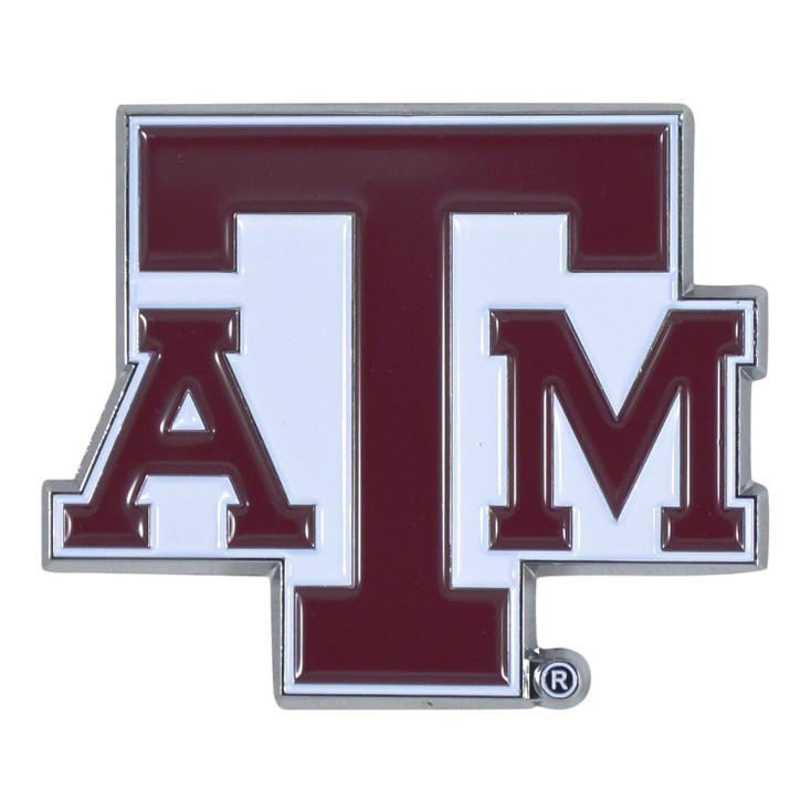 Texas A&M University Maroon Color Emblem, Set of 2