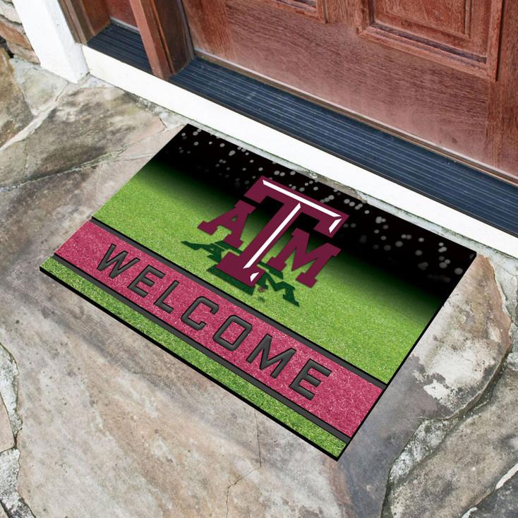 """18"""" x 30"""" Texas A&M University Crumb Rubber Door Mat"""