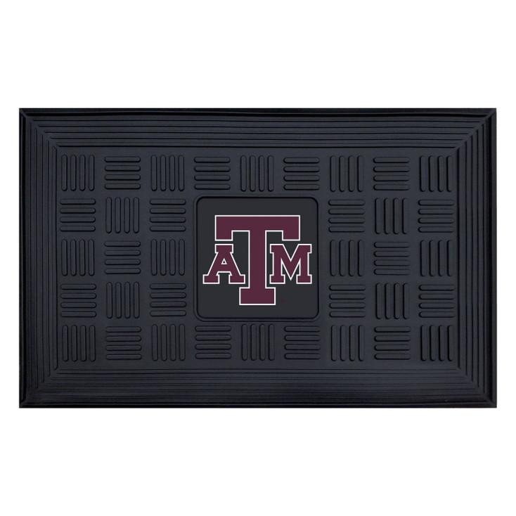 """19.5"""" x 31.25"""" Texas A&M University Medallion Rectangle Door Mat"""