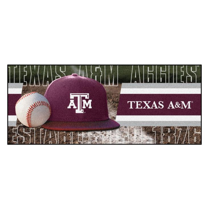 """30"""" x 72"""" Texas A&M Baseball Style Rectangle Runner Mat"""