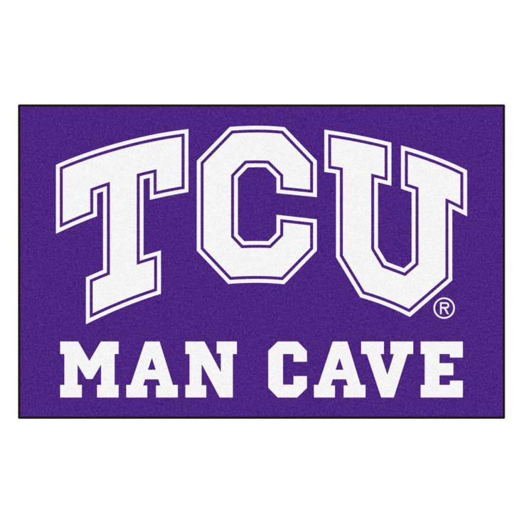"19"" x 30"" Texas Christian University Man Cave Starter Purple Rectangle Mat"