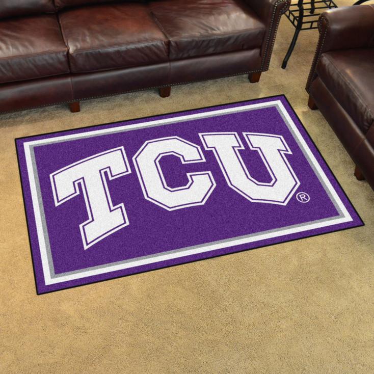 4' x 6' Texas Christian University Purple Rectangle Rug