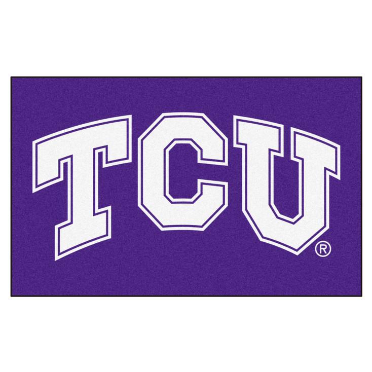 "59.5"" x 94.5"" Texas Christian University Purple Rectangle Ulti Mat"
