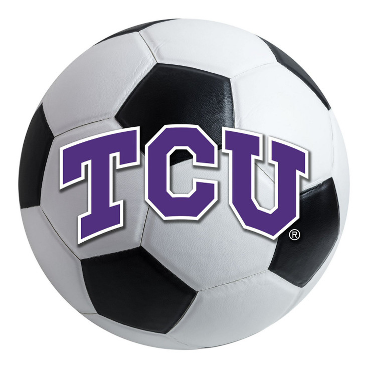 "27"" Texas Christian University Soccer Ball Round Mat"