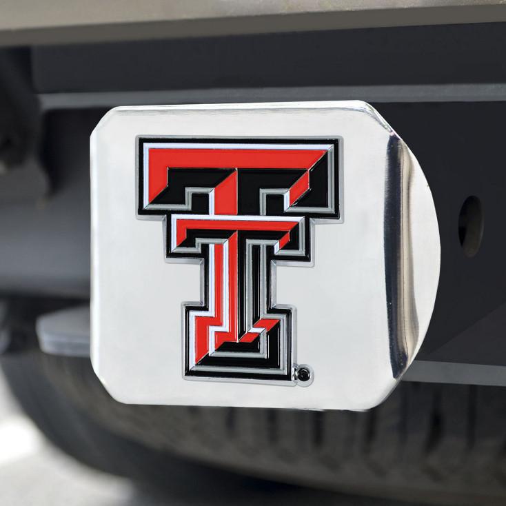Texas Tech University Color Hitch Cover - Chrome