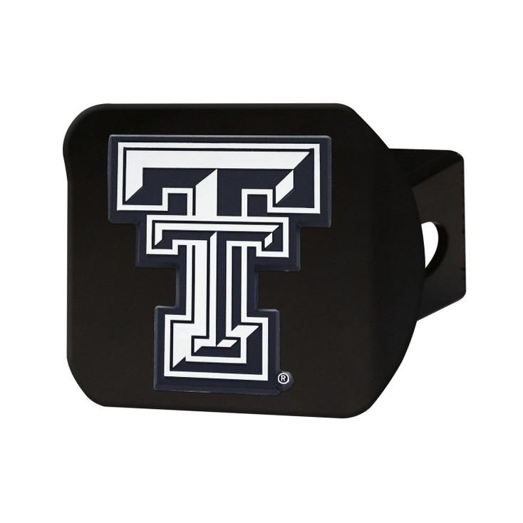 Texas Tech University Hitch Cover - Chrome on Black