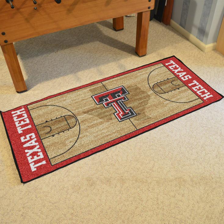 """30"""" x 72"""" Texas Tech University NCAA Basketball Rectangle Runner Mat"""