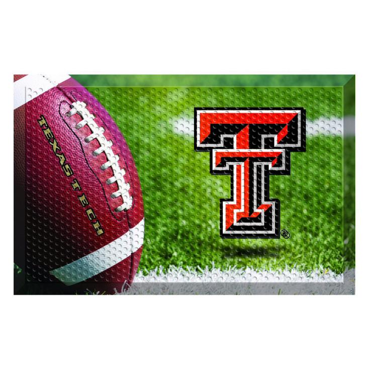 """19"""" x 30"""" Texas Tech University Rectangle Scraper Mat - """"TT"""" Logo"""