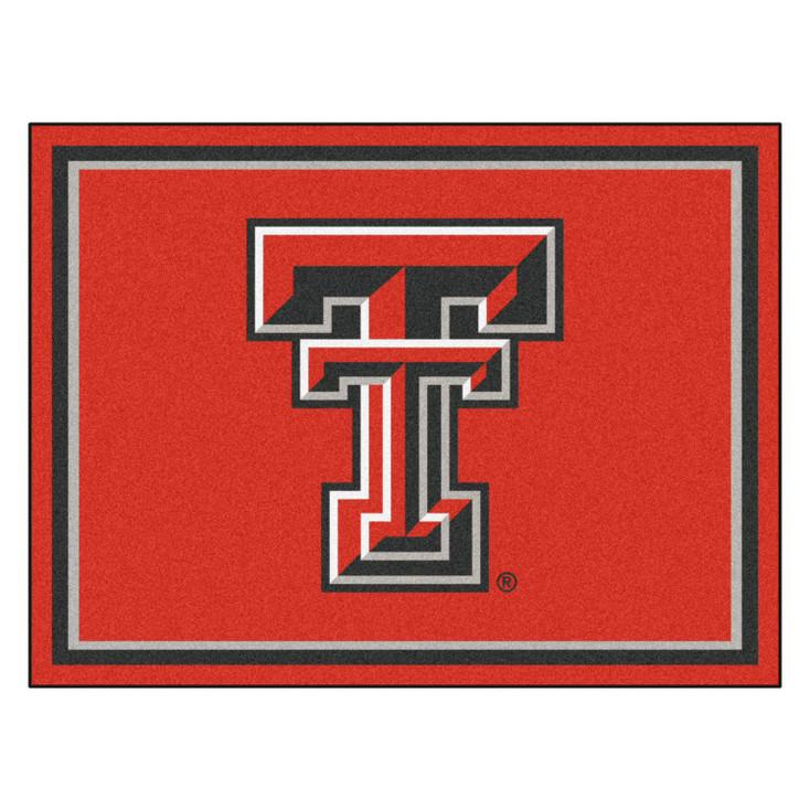 8' x 10' Texas Tech University Red Rectangle Rug
