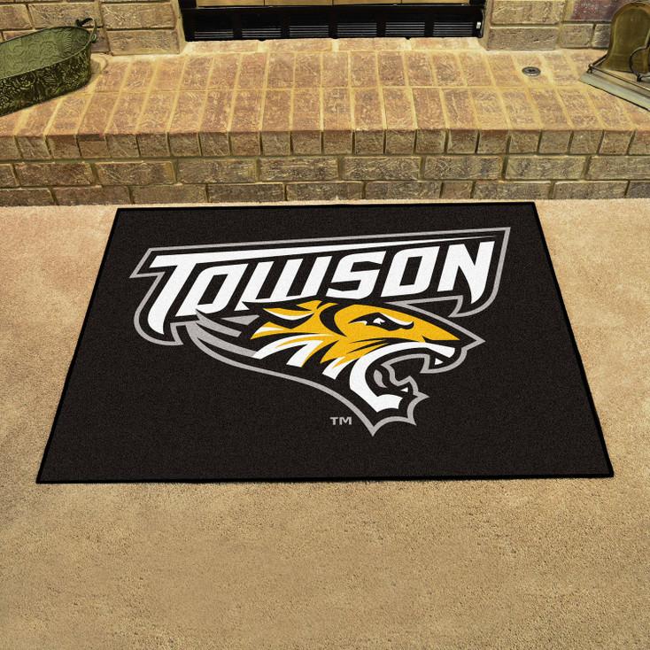 "33.75"" x 42.5"" Towson University All Star Black Rectangle Mat"