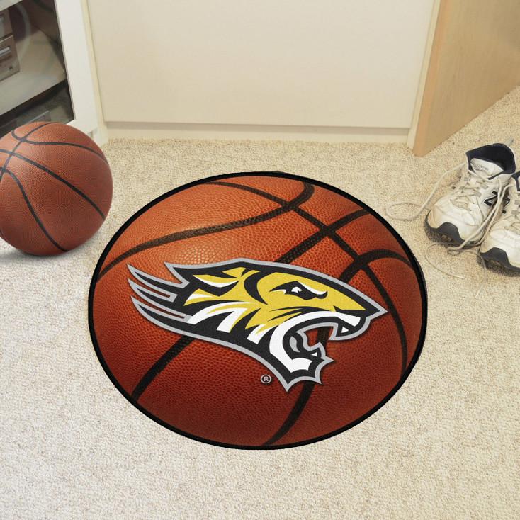 "27"" Towson University Tiger Logo Orange Basketball Style Round Mat"