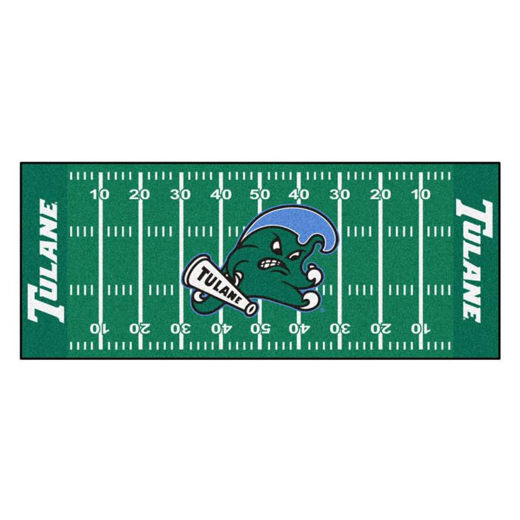 "30"" x 72"" Tulane University Football Field Rectangle Runner Mat"