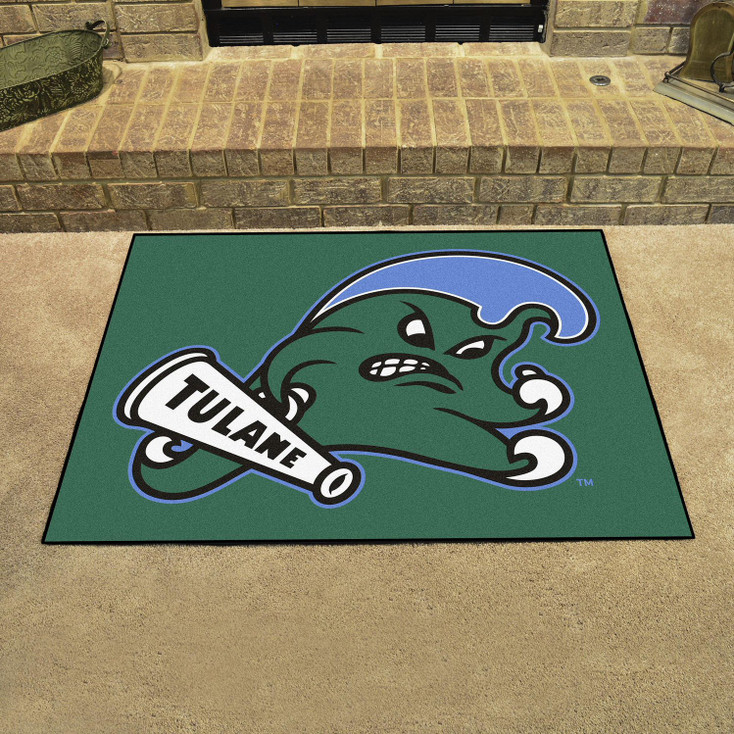 "33.75"" x 42.5"" Tulane University All Star Green Rectangle Mat"