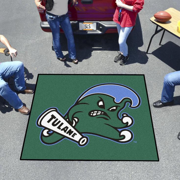 "59.5"" x 71"" Tulane University Green Tailgater Mat"