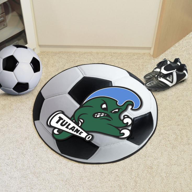 "27"" Tulane University Soccer Ball Round Mat"