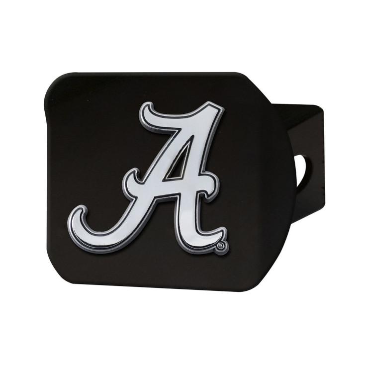 University of Alabama Hitch Cover - Chrome on Black