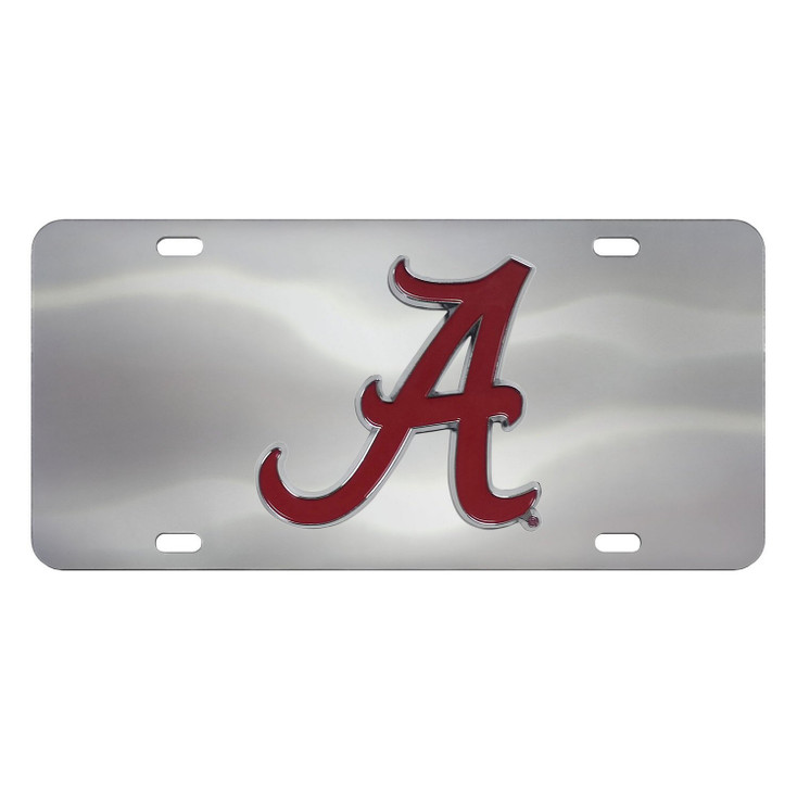 University of Alabama Diecast Stainless Steel License Plate