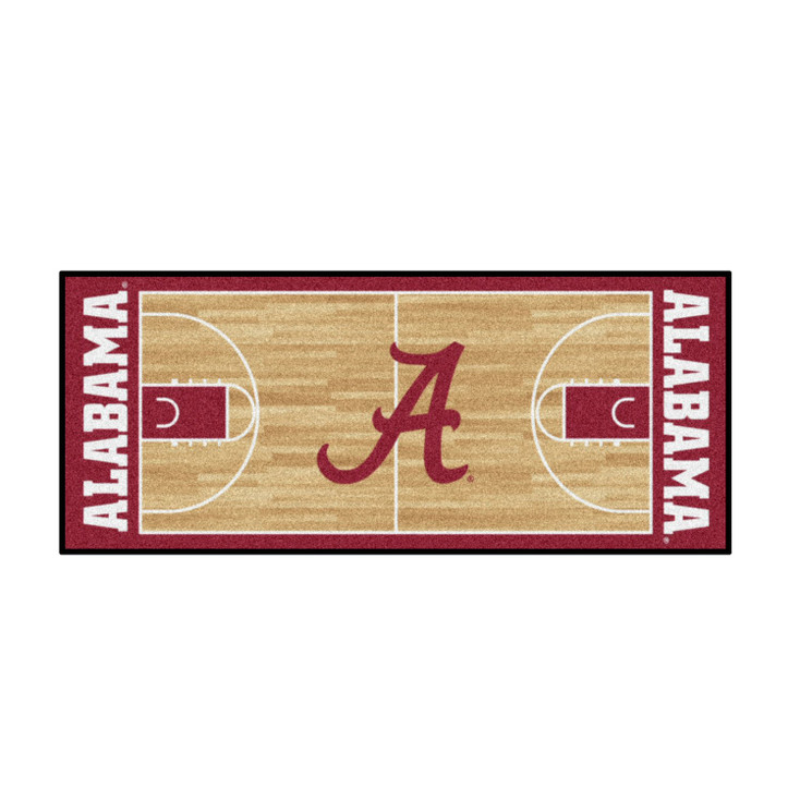 "30"" x 72"" University of Alabama NCAA Basketball Rectangle Runner Mat"