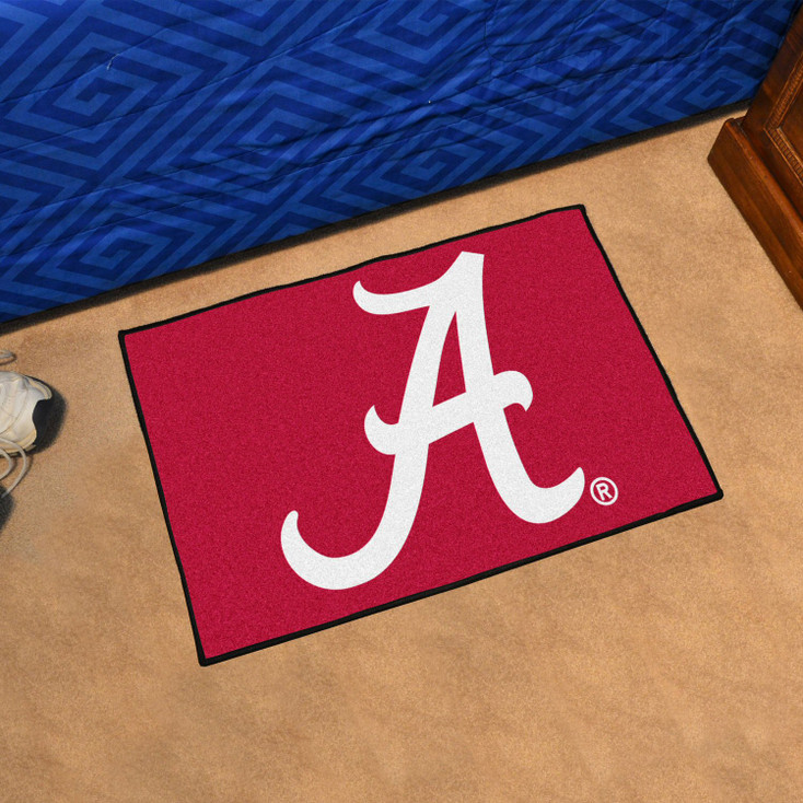 "19"" x 30"" University of Alabama Red Rectangle Starter Mat"