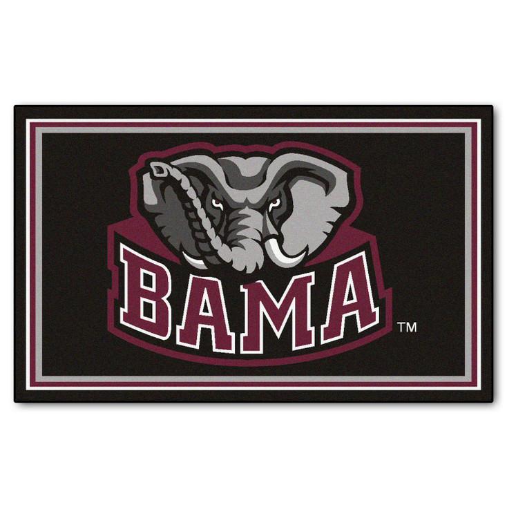 4' x 6' University of Alabama Black Rectangle Rug
