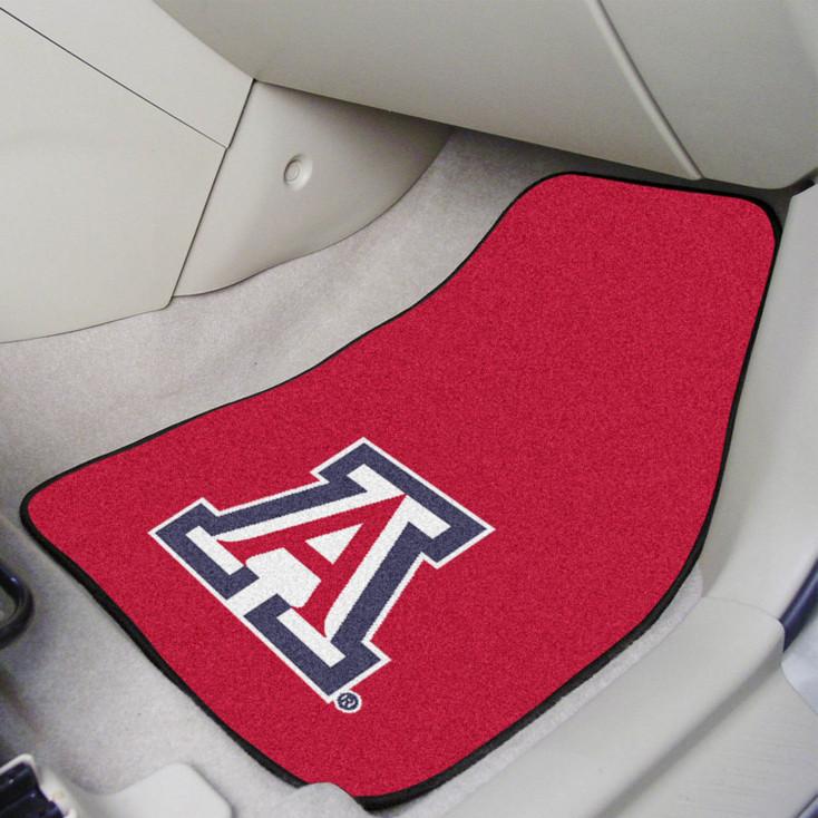 University of Arizona Red Carpet Car Mat, Set of 2