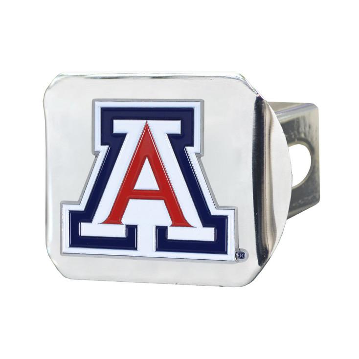 University of Arizona Color Hitch Cover - Chrome