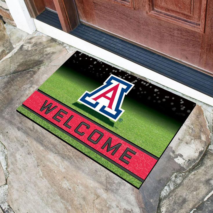 """18"""" x 30"""" University of Arizona Crumb Rubber Door Mat"""