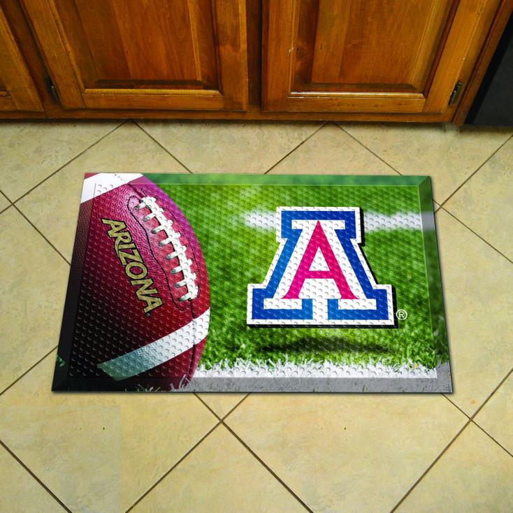 "19"" x 30"" University of Arizona Rectangle Scraper Mat - ""A"" Primary Logo"