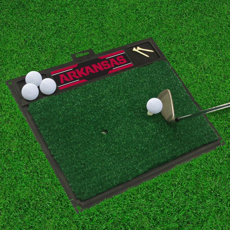 "20"" x 17"" University of Arkansas Golf Hitting Mat"