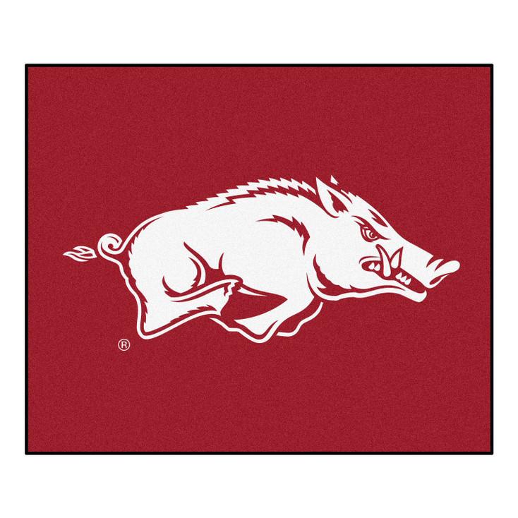 """59.5"""" x 71"""" University of Arkansas Red Tailgater Mat"""