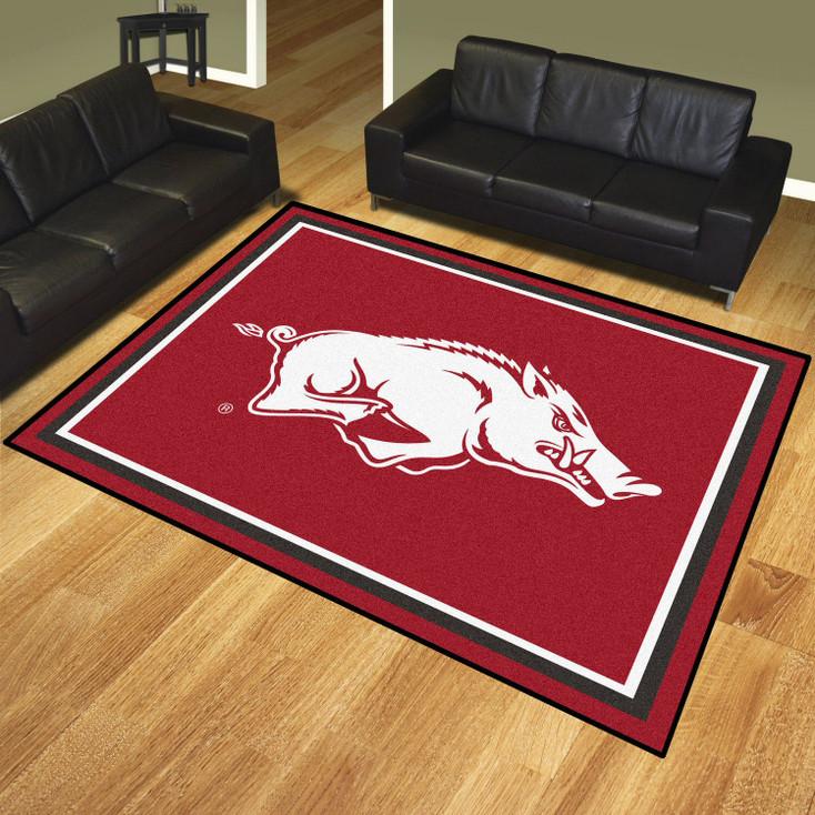 8' x 10' University of Arkansas Red Rectangle Rug